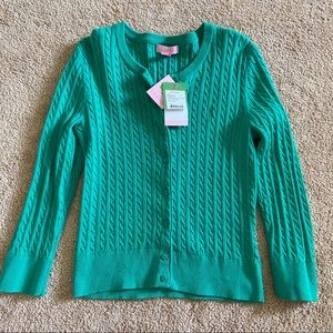 Lovely Bright Green Lilly Pulitzer Cotton Cardigan